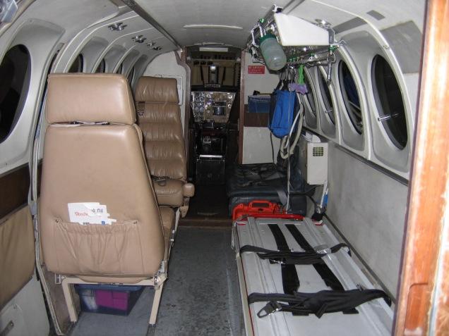 Ambulanzflugzeug Innenraum